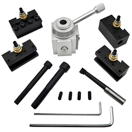 Buy ZH-Wang Lathe Accessories Aluminum Alloy Mini Quick-Change Steel Holder Kit for Lathes
