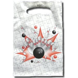 Bowling Birthday Party Loot Bags (Set of 8)