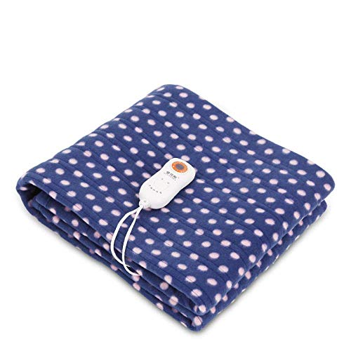 YLKCU Electric Blanket Comfort Electric,Electric safety protection, temperature regulation and timing single student dormitory electric-blue_160X120cm
