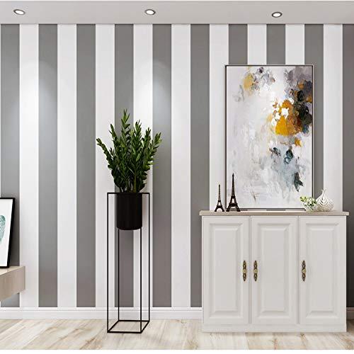 Bumpy Road Carta da parati a righe verticali Home Decor per soggiorno Rivestimenti murali camera da letto Carta da parati di lusso moderna in argento bianco metallizzato