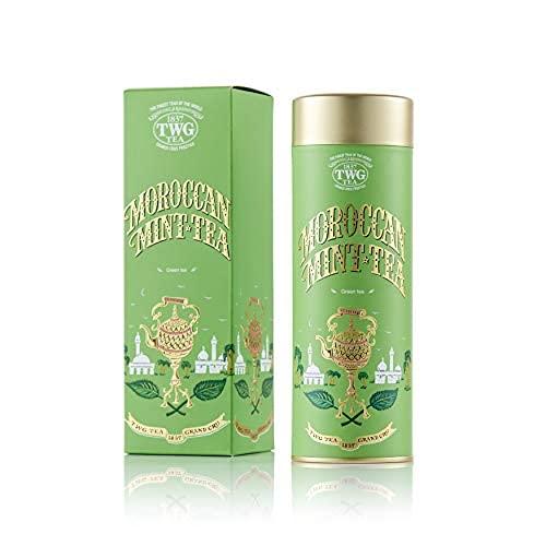 TWG Tea Moroccan Mint lose Blatt Minztee in Haute Couture Geschenkteedose, Waldbeere, 100 gramm