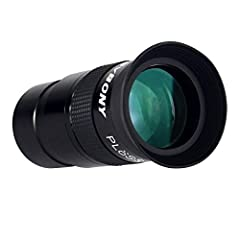 Engineered with high quality 4 element design and offering a generous 40° apparent field of view;perfect for broad field lunar observations;medium sized star clusters;provide a wide range of cloudy nebulas and deep sky targets Soft rubber eye guard t...
