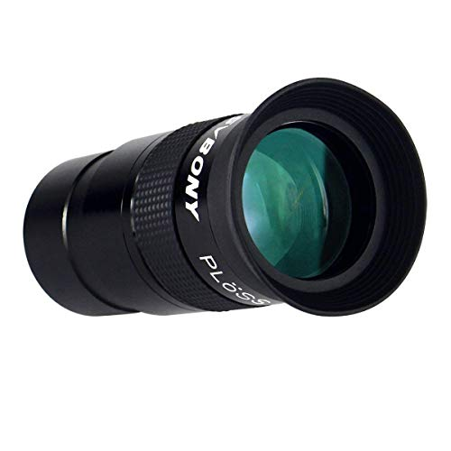 SVBONY Telescope Eyepiece 40mm 1.25 inches Plossl Telescope Lens Fully Multi Green Coated Metal 40 Degree Apparent Field 4 Element Telescope Accessory for Astronomy Telescope