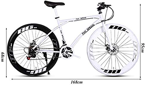 Road Bikes ZTYD Men's And Women's Road Bicycles, 26-Inch Bikes, Adult-Only, High Carbon Steel Frame, Road Bicycle Racing, Wheeled…