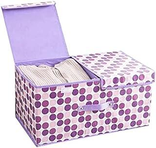Lpiotyucwh Paniers et Boîtes De Rangement, 1pcs Organisateur pliable avec poignées de transport, Organisation de la chambr...