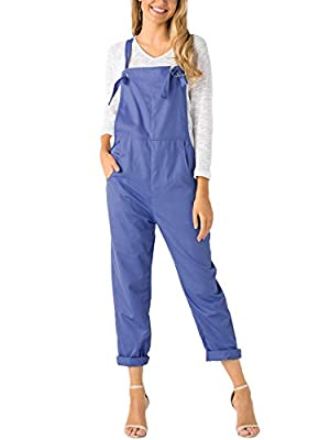 YOINS Women Fashion Overalls Bib Baggy Dungaree Adjustable Strap Romper Jumpsuit New-Light Blue M