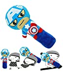 Seat Belt Pillow for Kids, Car Pillow Car Seat Belt Cover, Vehicle Shoulder Pads, Iron Superhero Pillow, Safety Belt Protector Cushion, Soft Seat Strap Headrest Neck Support Seat Belt Covers for Kids
