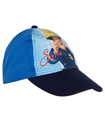 Feuerwehrmann Sam Cap für Jungen mit Fotodruck und Klettverschluss Blau 52