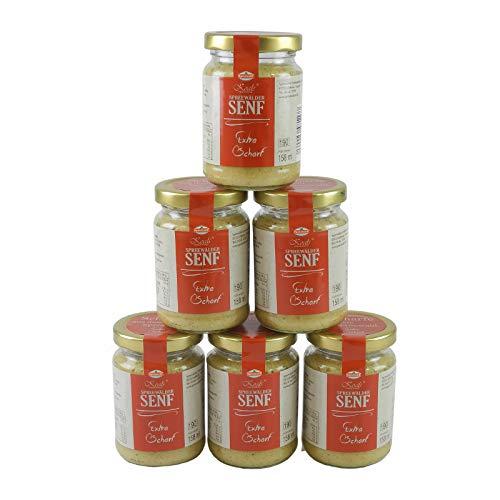 Koals Spreewälder Senf extra scharf 6er Set (6 Gläser à 158 ml)
