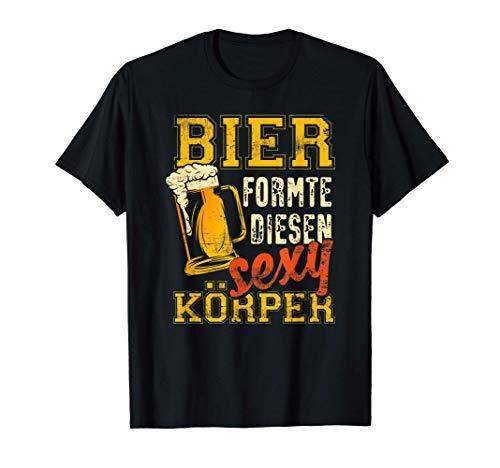 Lustiges Sauf Geschenk - Bier formte diesen sexy Körper T-Shirt