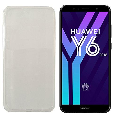 MOELECTRONIX TPU TRANSPARENT Silikon Schutzhülle Soft Case Tasche Hülle passend für Huawei Y6 2018 Dual SIM ATU-L21