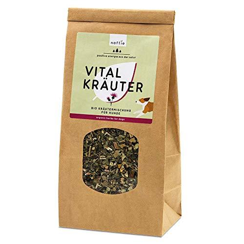 naftie Bio Vital Kräuter Mix   Vitalkräuter Kräutermischung getrocknet für Hunde   Vitalität & Fellwechsel   vom Tierheilpraktiker   Barfkräuter Barf-Zusatz   100% veganes Naturprodukt   200g