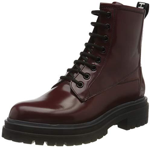 HUGO Damen Alpha Bootie-C Mode-Stiefel, Medium Red612,36 EU
