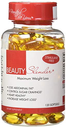 BeautyFit BeautySlender Stimulant-Free Maximum Weight-Loss Formula For Women Blend of CLA, ALA Antioxidant, GLA Fatburning, Omega 3 Fatty Acids 120 Softgels