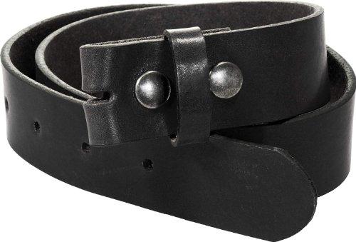 Harrys-Collection Damen Herren Druckknopfgürtel aus Bestem Vollrindleder, Bundweite:85, Farben:schwarz