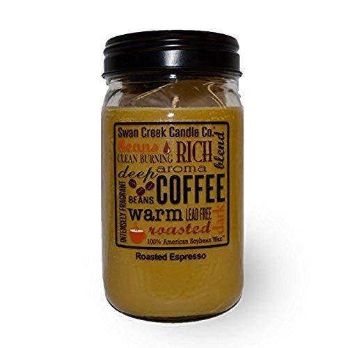 Swan Creek Candle Roasted Espresso 24 Oz Jar (Tan)