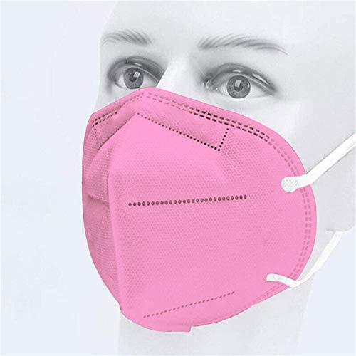 Jiujiuwanli 20/25/50/100 Stück Mundschutz Erwachsene schwarz Rosa 3D Faltbar 5 Lagig MNS mit Nasenbügel Atmungsaktive Staubdicht Damen Herren