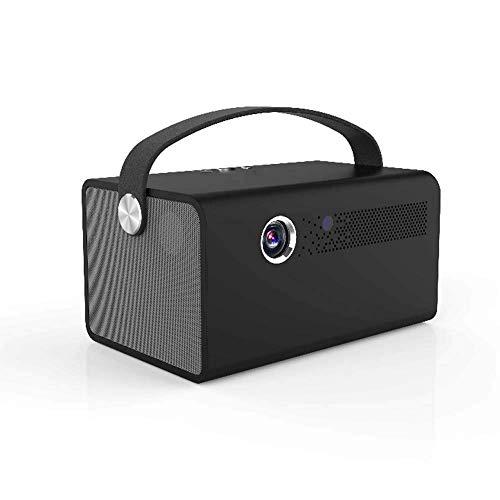 WSMLA Mini proyector 1080p y Pantalla admitido proyector portátil Oficina Móvil Teléfono Móvil película 4K HD Smart TV 3D Mini sin Rejillas