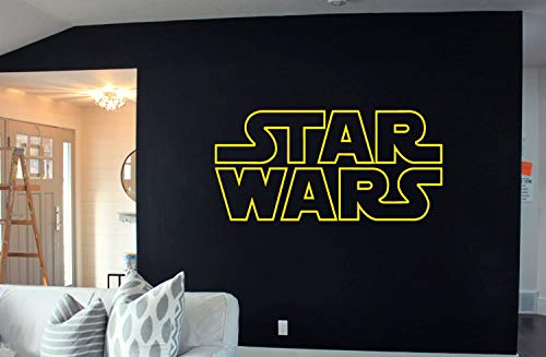 LA DECAL Star Wars Logo Decal Sticker Death Star Storm Trooper Yoda Wall Art Wall22x38' (11')