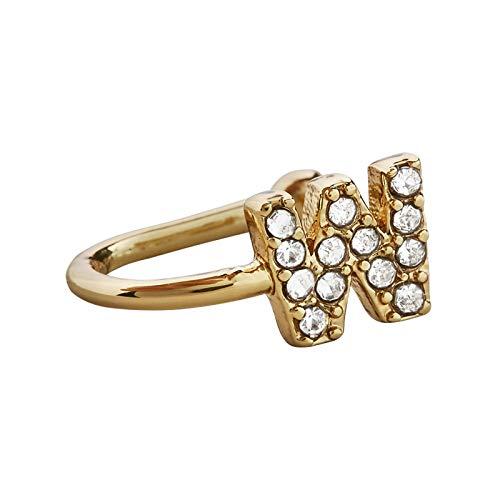 Richo 26 pendientes con diseño de alfabeto inglés, clip de cartílago de la oreja con diamantes de imitación, pendientes no perforantes para cartílago, accesorio de joyería