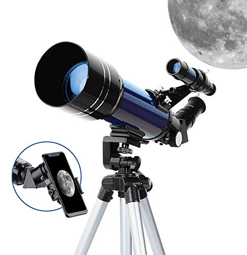 Review WUAZ Telescope 70mm Telescope for Astronomy with Phone Adapter Adjustable Tripod Barlow Lens ...