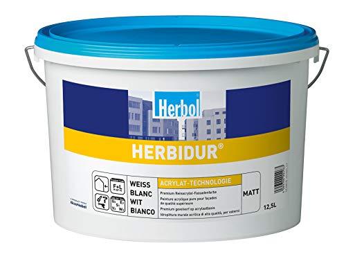 Herbol Herbidur matt Hochleistungs-Fassadenfarbe weiss / 12,5 Liter