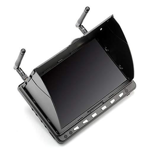 HELEISH HD02 40CH 5.8G 7 pulgadas 1024x600 HD FPV Monitor de Alta Definición puerto con/sin DVR estructura en batería Piezas de montaje de bricolaje (Color : With DVR)