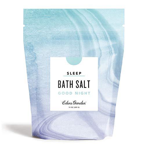 Edens Garden Good Night Mineral Bath Salt (Made with Essential Oils, Epsom & Celtic Sea Salt - Great for Detox, Sleep, Immunity, Relaxation, Pain), 10 oz