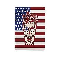 頭蓋骨の装飾 ipad air 4 ケース 2020 第4世代 10.9インチ 死んだ顔に頭に花輪を捧げる米国シンボル星ユーモアイラスト 耐衝撃 新型 アイパッドエアー4専用スマートカバー スタンド付き 赤白