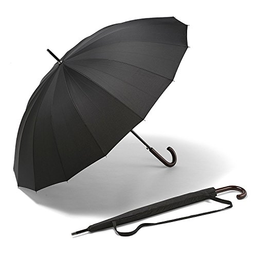 Regenschirm - Großer Schirm K-POP - Der beste lange wind- und sturmdichte Schirm – Der stärkste automatische schwarze Schirm, Regenschirms, Taschenschirm – GELD-ZURÜCK-GARANTIE – Für Männer und Frauen