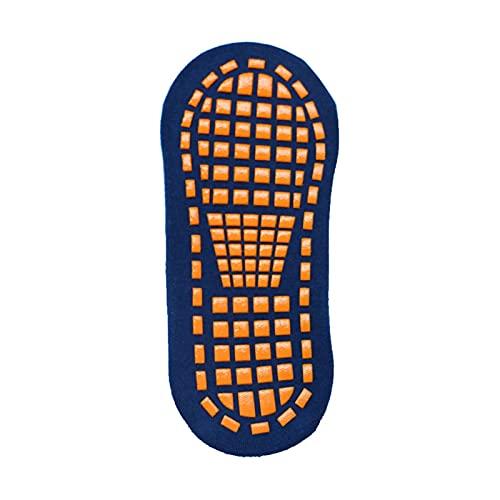 Youpin Calcetines antideslizantes para niños y adultos, de algodón, transpirables, cortos, elásticos, deportivos, para niños y niñas, exteriores, (color: azul marino, tamaño: 1 5 años de edad)