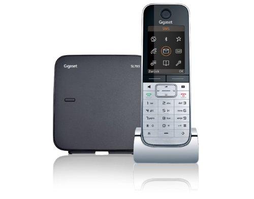 Gigaset SL785 Dect-Schnurlostelefon mit Anrufbeantworter, metall/ schwarz