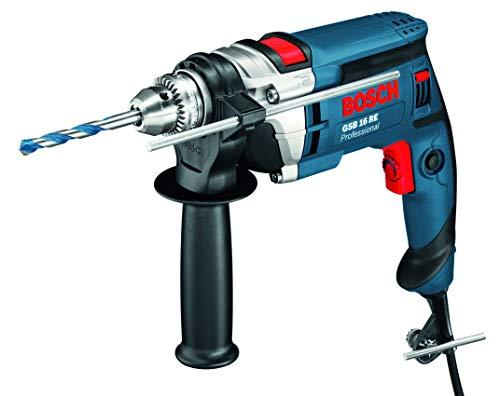 Bosch Professional Schlagbohrmaschine GSB 16 RE (750 Watt, Zusatzhandgriff, Tiefenansclag 210 mm, Schnellspannbohrfutter 13 mm, im Handwerkerkoffer)