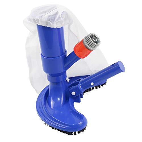Portable Pool Vacuums Mini Jet Underwater Cleaner with Brush, Mesh Bag for Cleaning Small Swimming Pool, Spa, Fountain