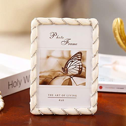 Marco de Fotos Marco de imagen 4 × 6 o 5x7 metal Marcos de la foto con la decoración del Rhinestone de los regalos de boda for la mesa de escritorio de pantalla verticalmente regalos mamá día único Ma