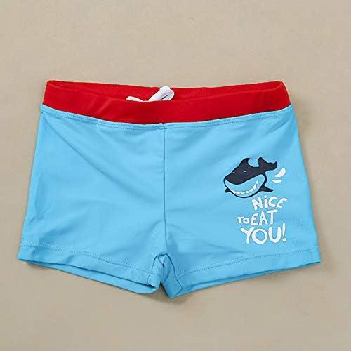 YIXING Boys Swimwear New Shark Swimming Trunks for Boys 0-4years Children's Swimwear Trunk Boys Bathing Suit (Color : Blue, Size : 98 104cm (3 4y))