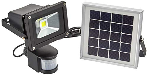 LED 10W 人感 センサー 太陽光 ソーラー ライト 投光器 明るい300ルーメン 昼光色 IP65 防塵防水 屋外 駐車場 外灯 防災グッズ ALS-GY-SFG10W-6500K