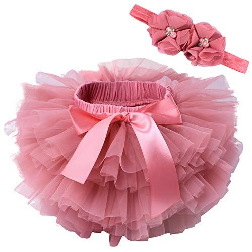 Happy Cherry Tüllrock Baby Fotoshooting Röcke Baby Mädchen Dunkelrosa Kostüm Baby Tütü Fotografie Outfits Baby Babyshooting Newborn Mädchen 6-12 Monate