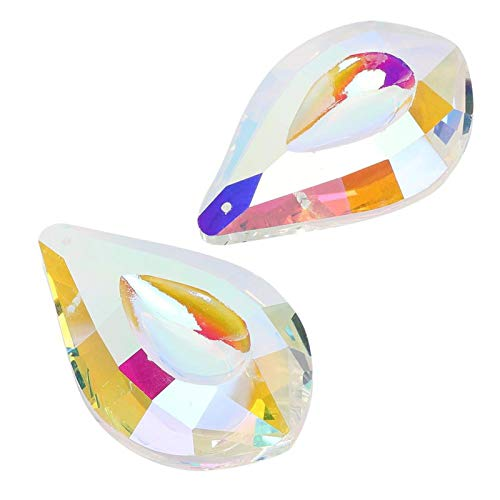 Qqmora Colgante de acrílico Decoración Prismas de Cristal Colgantes Alta dureza Brillante Colorido Exquisito Mujeres Niñas para Ropa Collar Accesorio de joyería Decoración de Boda