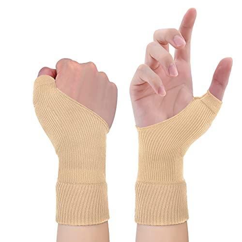 Gel Daumen Handgelenkstütze, Atmungsaktive Kompressions Arthritis Handschuhe für Daumen Arthritis, Karpaltunnel, Sehnenscheidenentzündung für Männer und Frauen, passend für beide Hände L