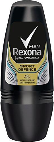 Rexona - Sport defence, desodorante en roll - on, hombre, pack de 6 (6 x 50 ml)
