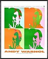 ポスター アンディ ウォーホル セルフポートレート 額装品 アルミ製ハイグレードフレーム(ブラック)