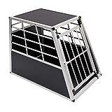 Warmiehomy Heavy Duty Dog Carrier Alumium Dog Cat Crate Lockable Car Travel Transport Box Pet Kennel, 25.59' L x 35.82' W x 27.56' H