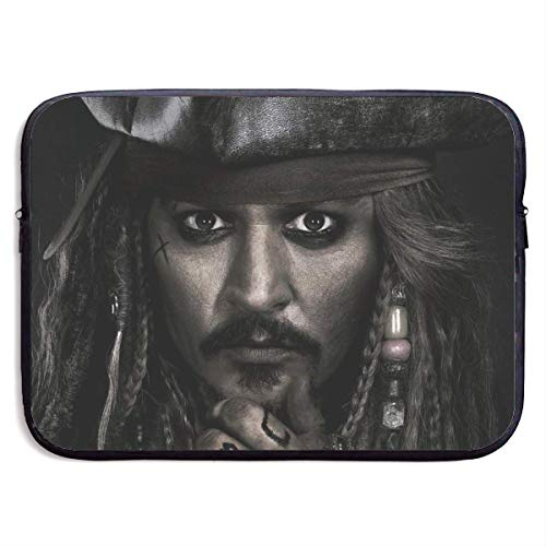 Hdadwy Pirates Caribbean Laptop Sleeve Case Waterproof Notebook Computer Bag Light and Comfortable Tablet Briefcase Band Zipper Portable Handbag 15 Inch