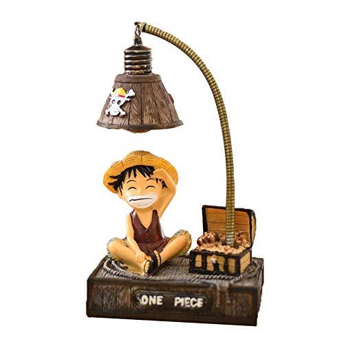 ALTcompluser Anime One Piece LED Nachtlicht Lampe, Nachttischlampe Schreibtischlampe Deko für Kinderzimmer/Wohnzimmer(Luffy)