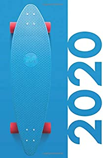 2020: Stocking fillers for 12 year old boy Gorgeous Planner Calendar Organizer Daily Weekly Monthly Student Diary for researching skateboarding gifts for adults