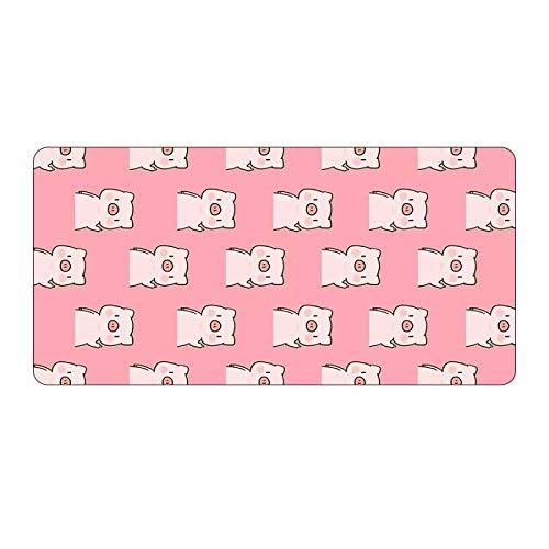 Alfombrilla de ratón grande con diseño de anime rosa para jugadores, Kawaii XL, de goma, color naranja