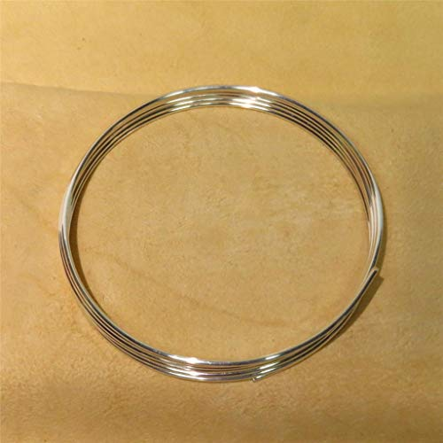Golden State Silver 9999 Pure Silver 12 Gauge (0.080 in. / 2.03 mm) Wire - 72 inch Coil (6 feet) - Guaranteed 99.99%+