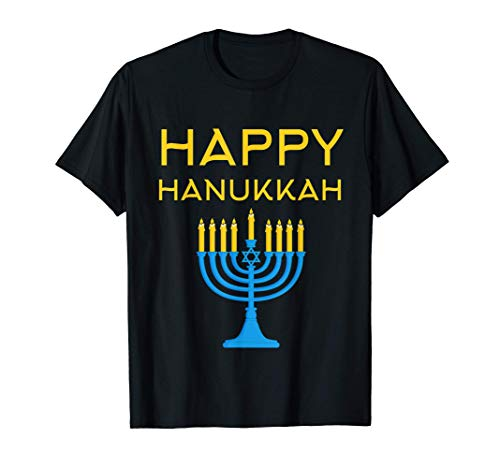 Hanukkah Shirt - (Menorah Graphic) Happy Hanukkah T-Shirt