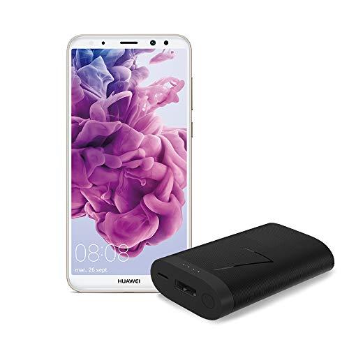 """Huawei Mate 10 Lite - Pack de smartphone de 5.9"""" (4 GB de RAM, 64 GB de memoria, cámara de 16 MP, Android 8.0) Dorado y powerbank de 6700 mAh [Exclusivo Amazon]"""